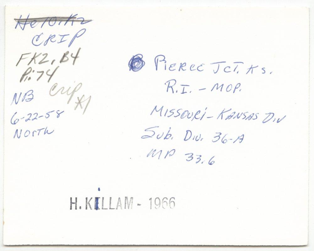 Chicago, Rock Island & Pacific Railroad & Missouri Pacific Railroad sign board, Pierce Junction, Kansas - 2
