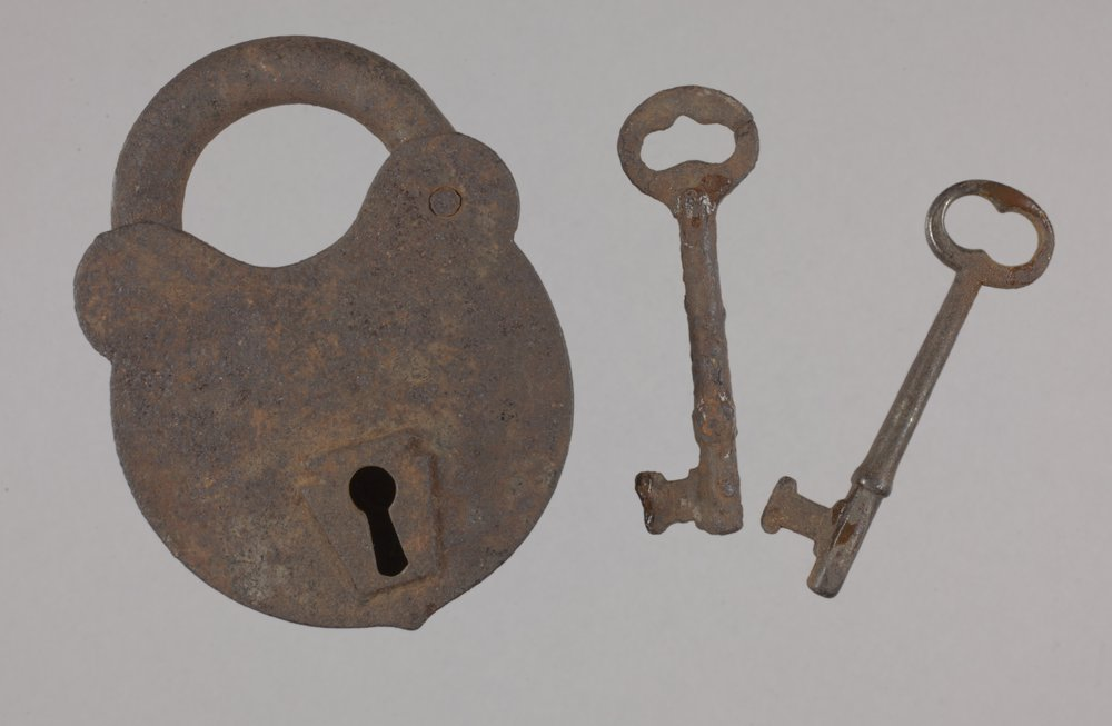 Padlock and Keys from the Plowboy Site, 14SH372 - 1