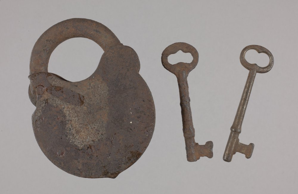 Padlock and Keys from the Plowboy Site, 14SH372 - 3