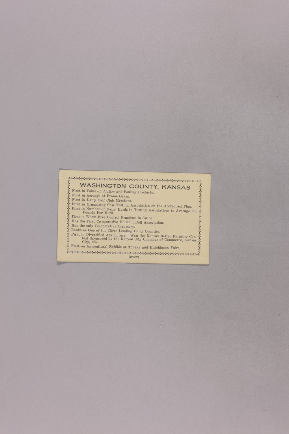 Governor Clyde M. Reed correspondence, insurance - 4
