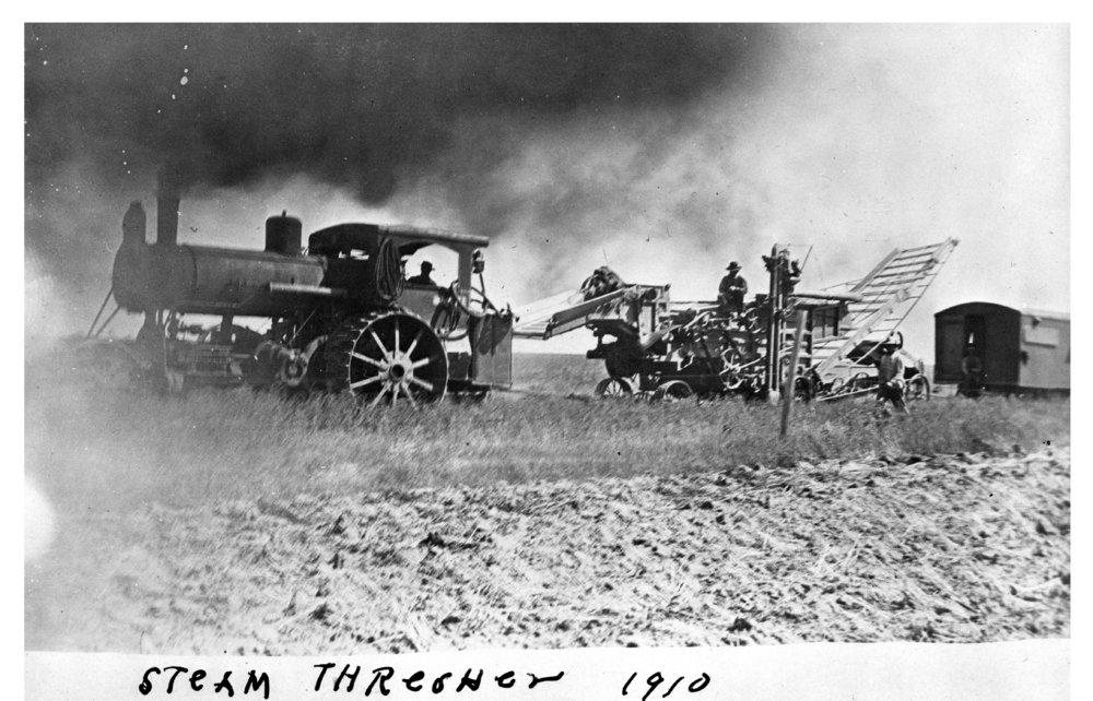 Field harvest, Logan County, Kansas