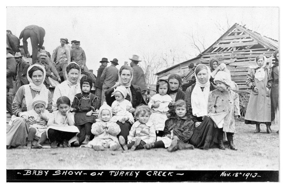 Baby show on Turkey Creek, Woodson County, Kansas