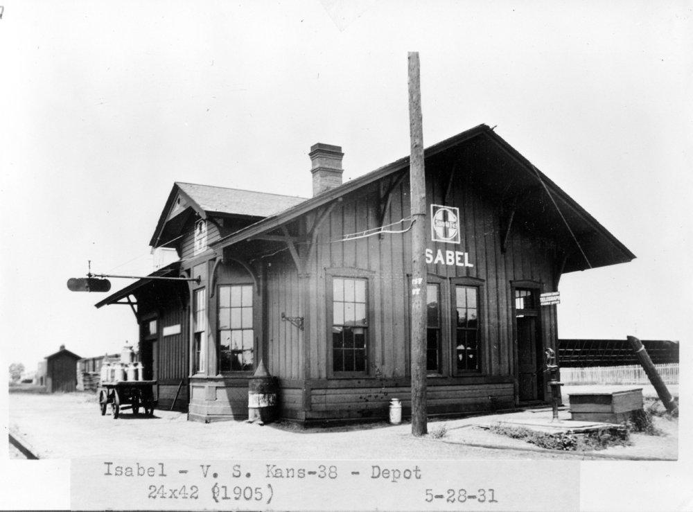 Atchison, Topeka and Santa Fe Railway Company depot, Isabel, Kansas