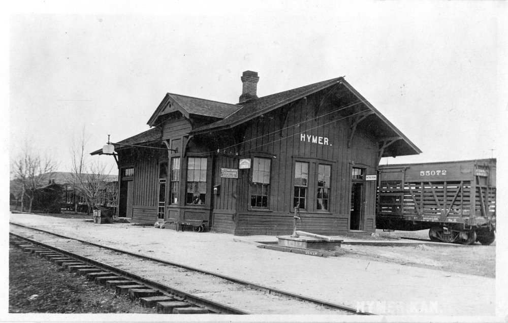 Atchison, Topeka and Santa Fe Railway Company depot, Hymer, Kansas