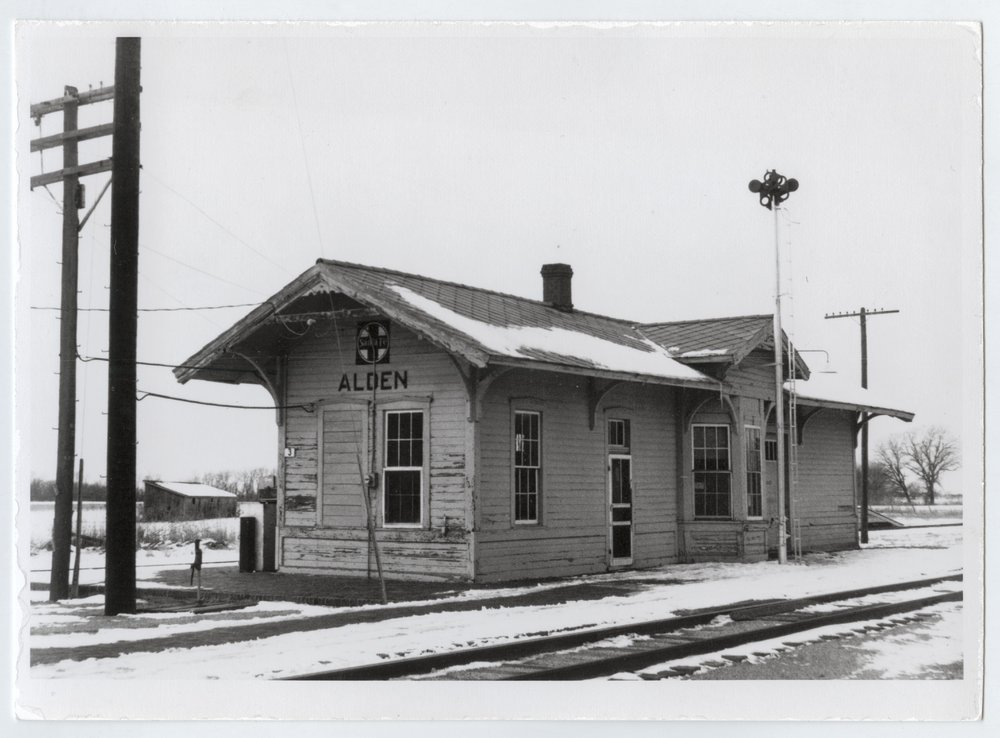 Atchison, Topeka and Santa Fe Railway Company depot, Alden, Kansas - 3