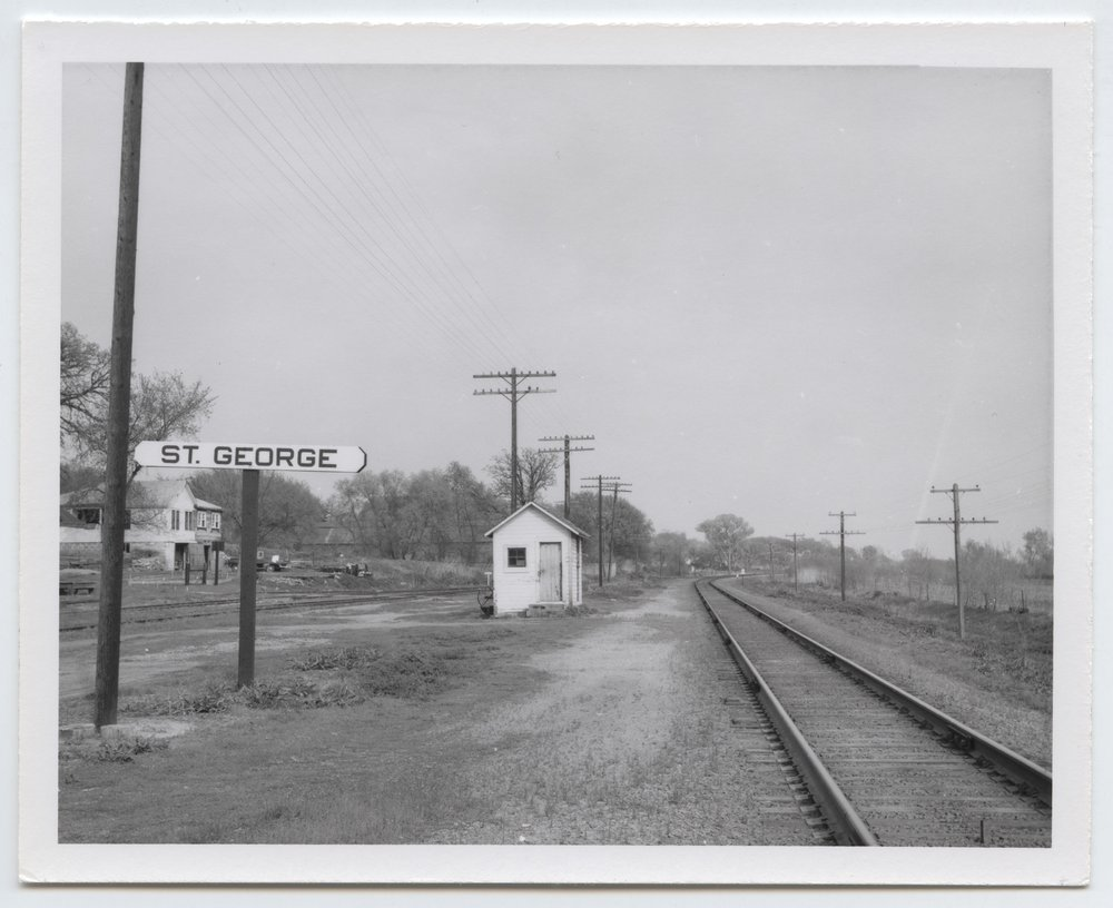 Union Pacific Railroad Company's box depot, St. George, Kansas - 1