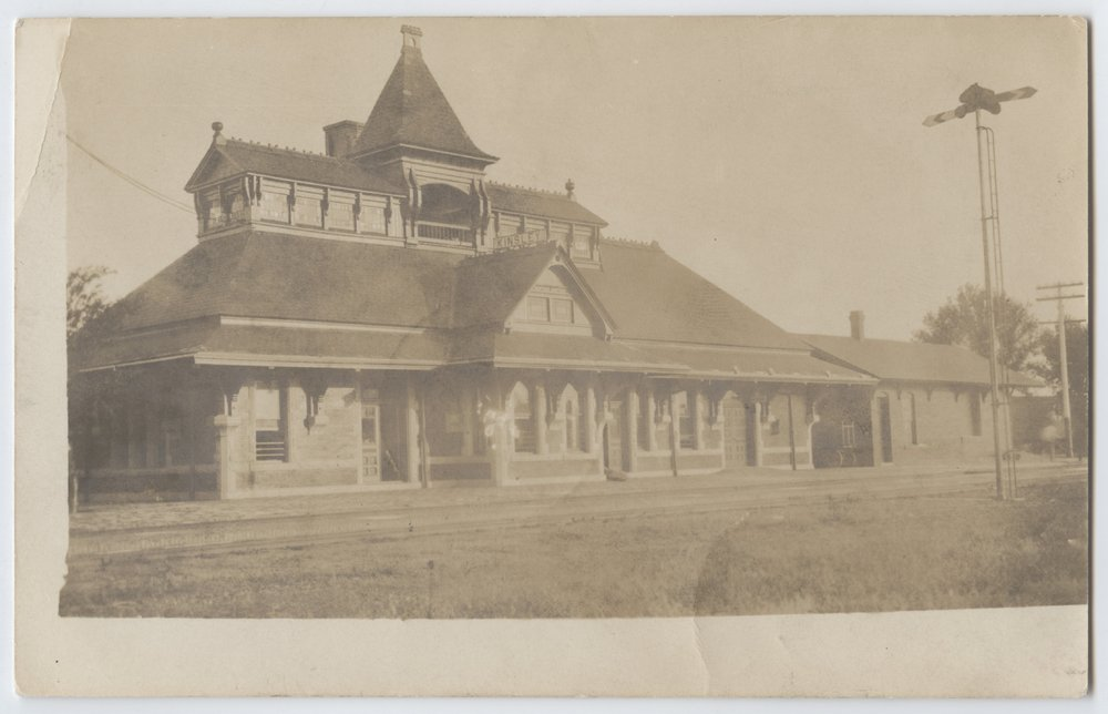 Railroad depot Kinsley, Kansas - 1
