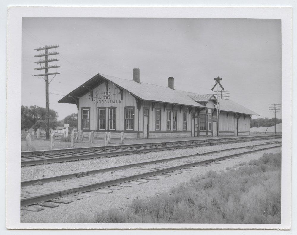 Atchison, Topeka and Santa Fe Railway Company depot, Carbondale, Kansas - 1