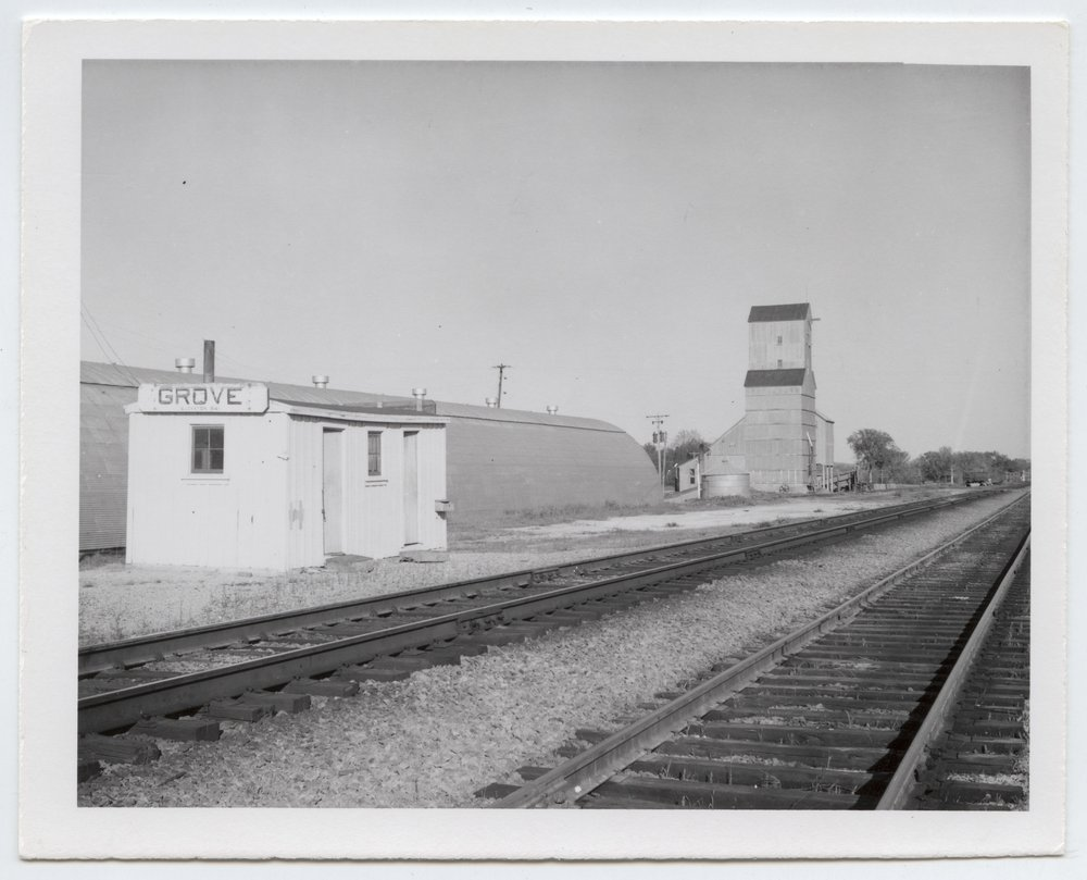 Union Pacific Railroad Company's box depot, Grove, Kansas - 1