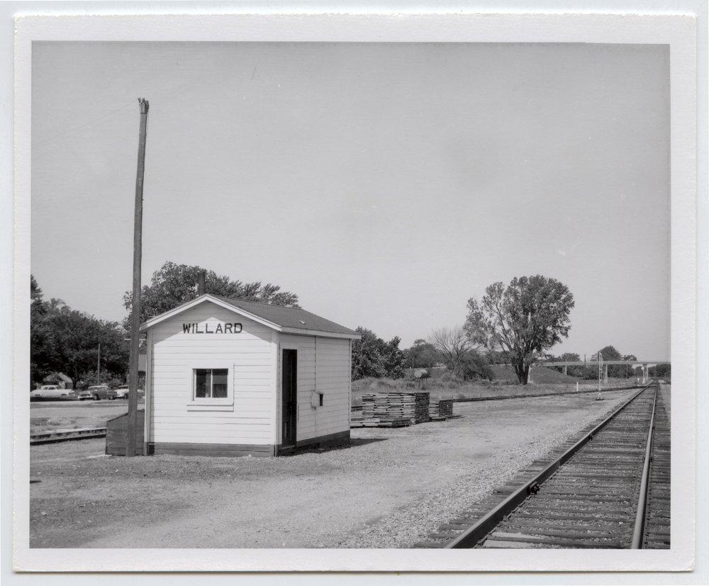 Chicago, Rock Island and Pacific Railroad box depot, Willard, Kansas - 1