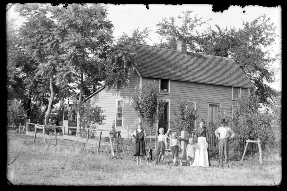 Michael A. Kennedy photo collection, St. Paul, Kansas - Kennedy family from left to right: Michael A. (M. A.), Mary Catherine, Sam, William, Emil Sr., Bertha Catherine (2752)