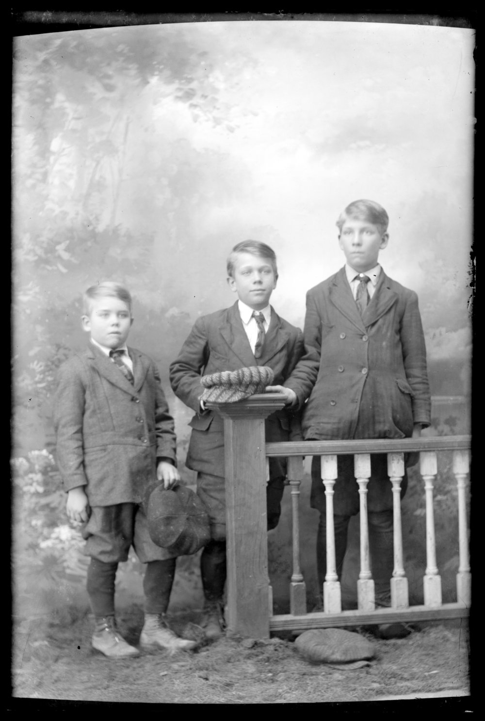 Michael A. Kennedy photo collection, St. Paul, Kansas - Photograph of three boys dressed in suits