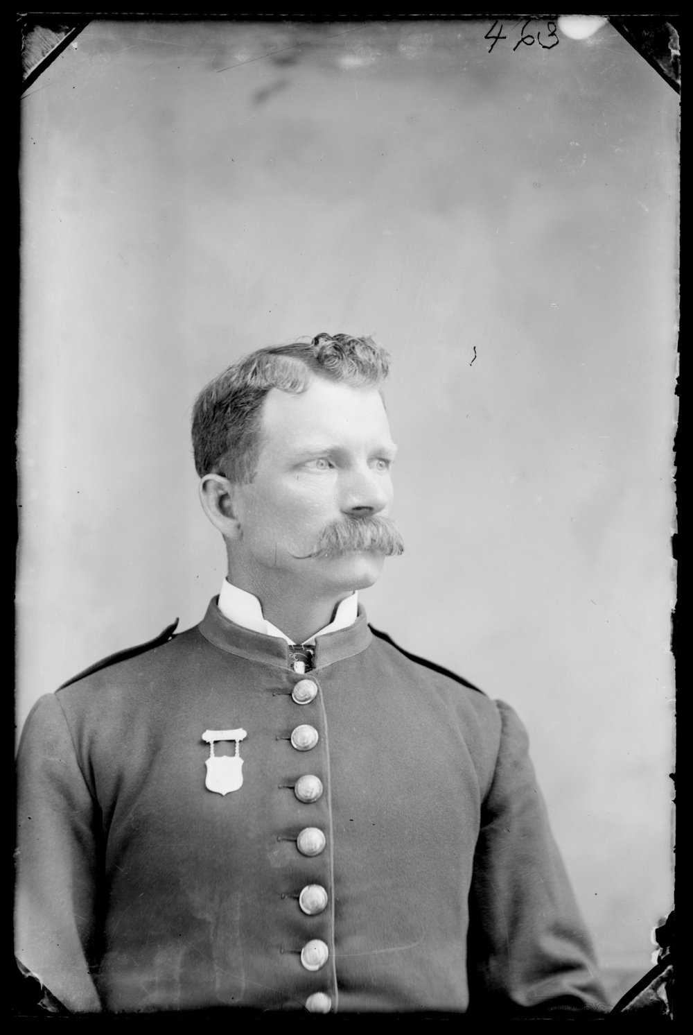 Michael A. Kennedy photo collection, St. Paul, Kansas - Portrait of Michael A. (M. A.) Kennedy in uniform (2764)