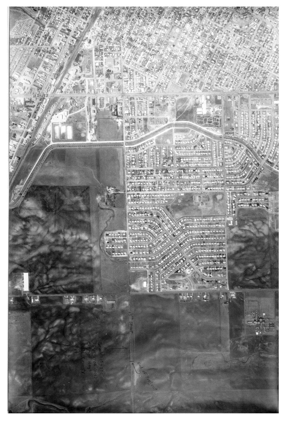 Aerial view, Hays, Kansas