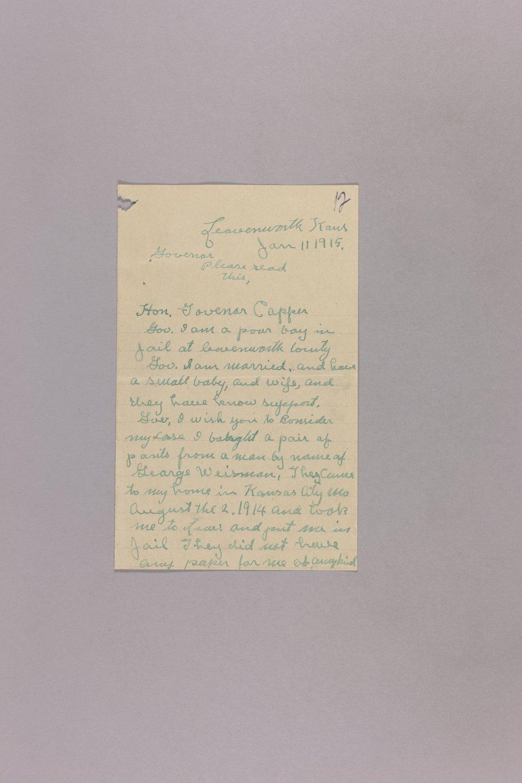 Appeal for Pardon - Harry E. Monk - 1