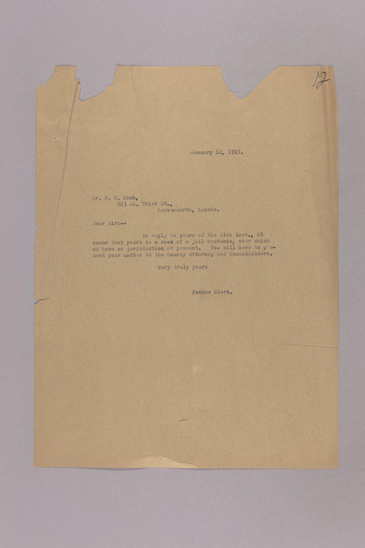 Appeal for Pardon - Harry E. Monk - 9