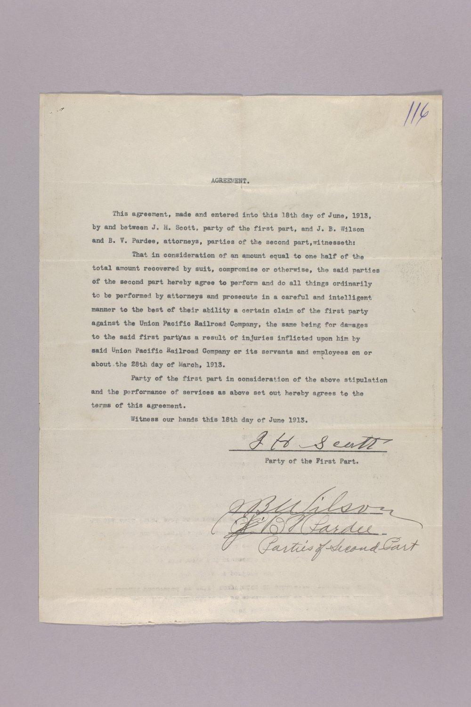 Claim Against Union Pacific Railroad - 7