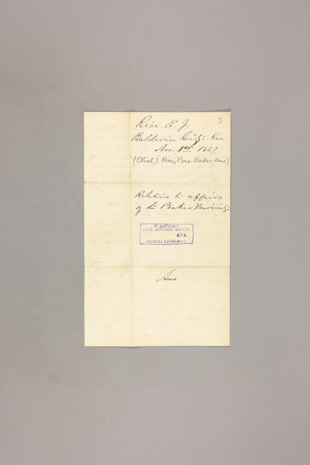 Correspondence, General - 6