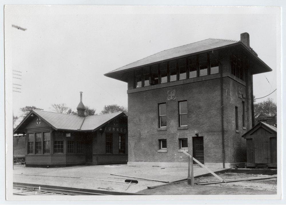Atchison, Topeka and Santa Fe Railway Company depot and tower, Turner, Kansas - 1