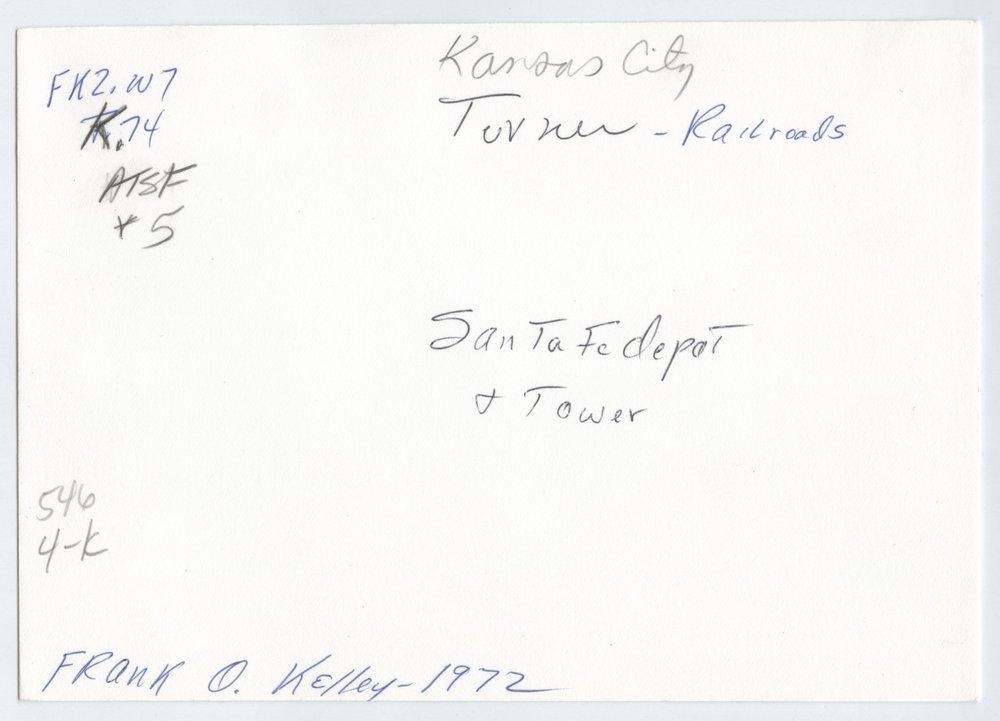 Atchison, Topeka and Santa Fe Railway Company depot and tower, Turner, Kansas - 2