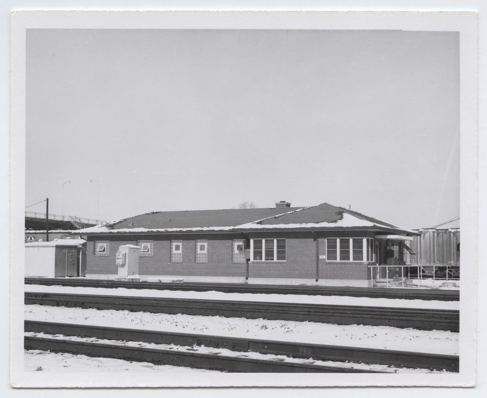 Atchison, Topeka and Santa Fe Railway Company depot and tracks, Turner, Kansas - 1