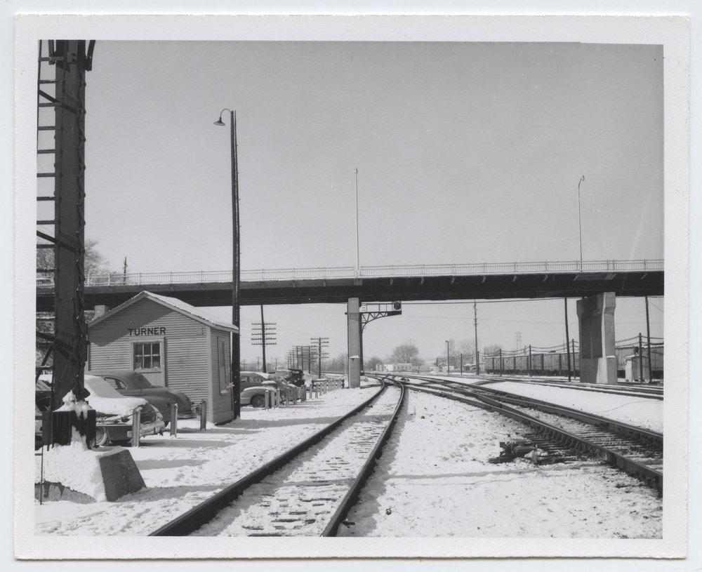 Atchison, Topeka and Santa Fe Railway Company depot and tracks, Turner, Kansas - 3