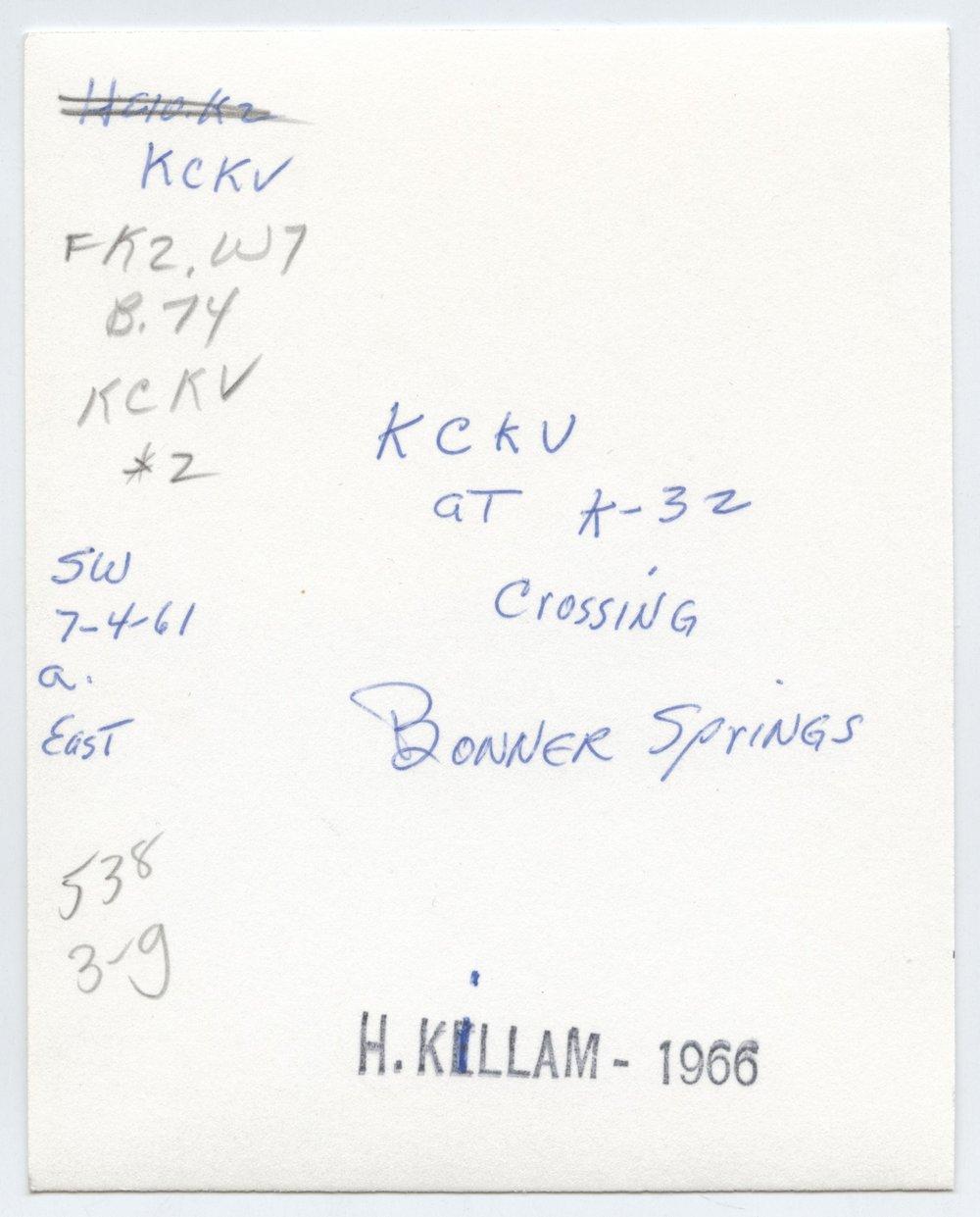 Kansas City, Kaw Valley K-32 crossing, Bonner Springs, Kansas - 2
