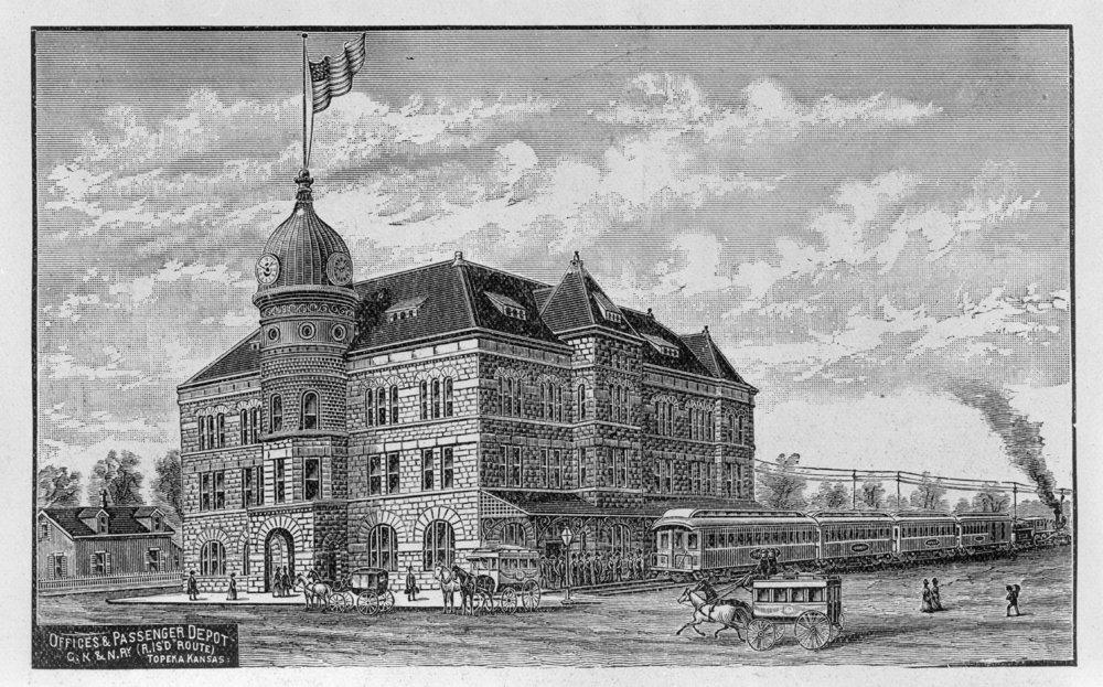 Chicago, Rock Island and Pacific Railroad depot, Topeka, Kansas - 3