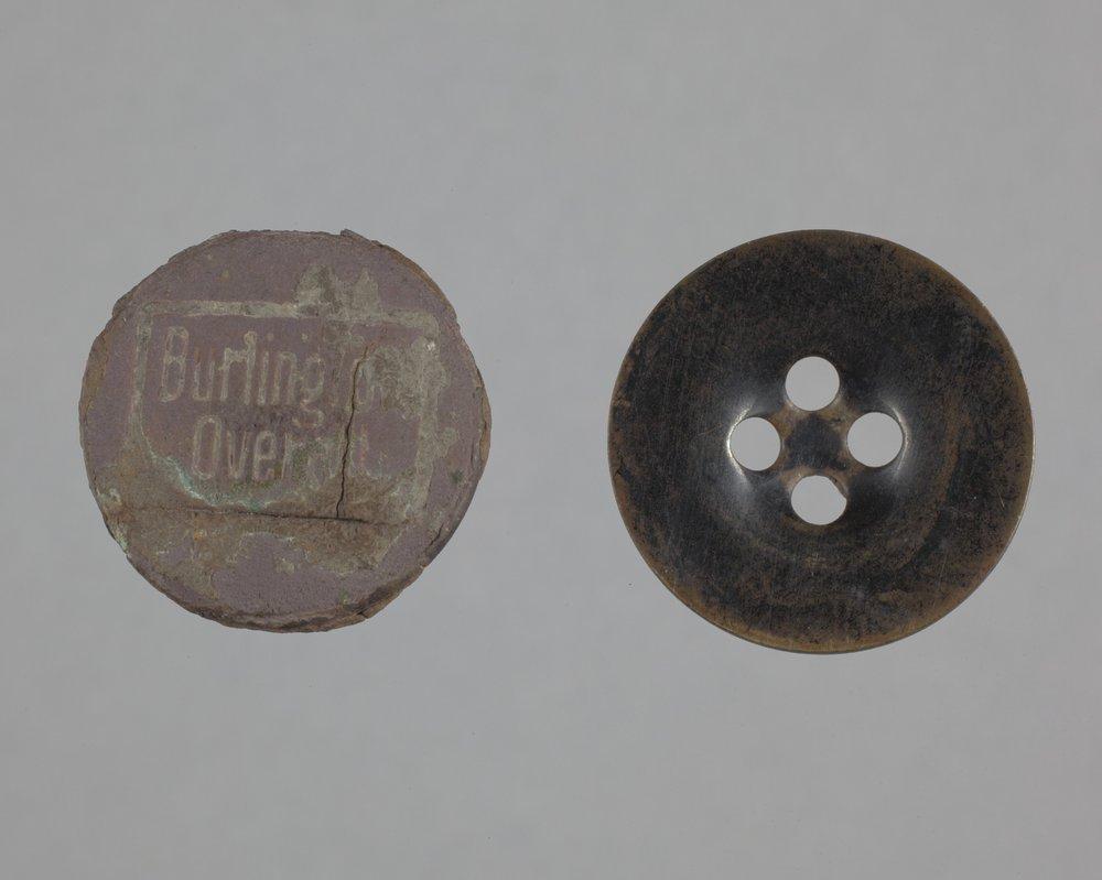 Buttons from the Mine Creek Civil War Battlefield, 14LN337 - 1