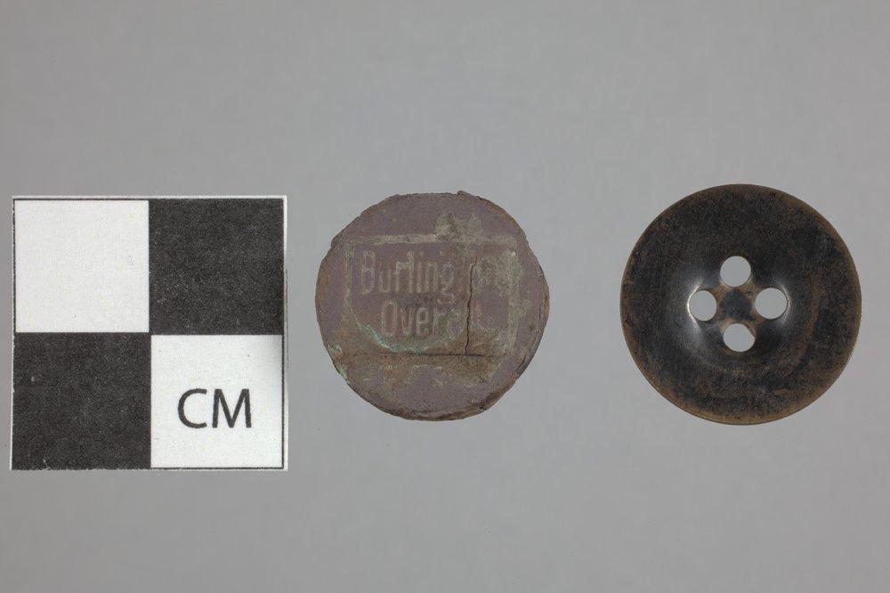 Buttons from the Mine Creek Civil War Battlefield, 14LN337 - 2