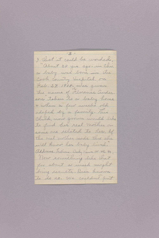 Bonner Springs adoption, correspondence - 2