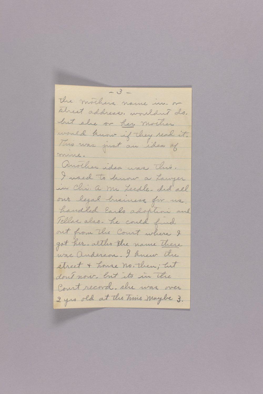 Bonner Springs adoption, correspondence - 3
