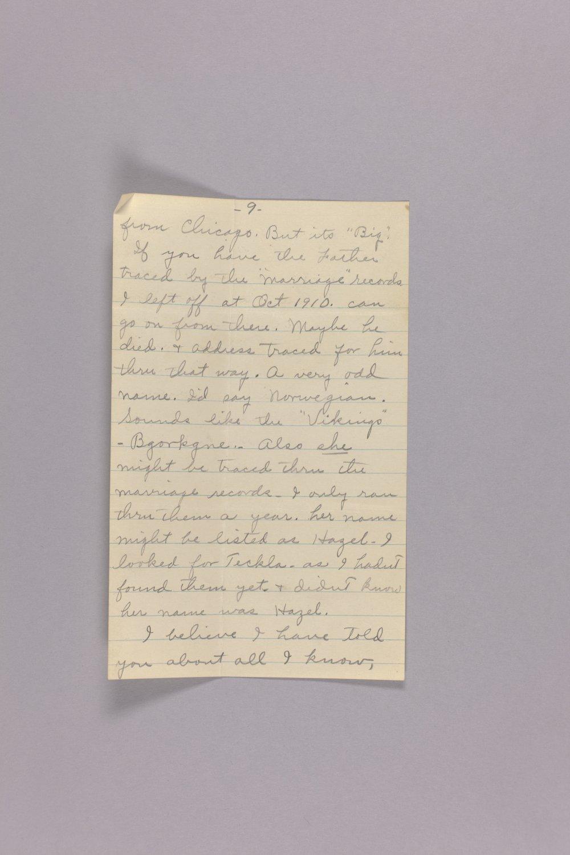 Bonner Springs adoption, correspondence - 9
