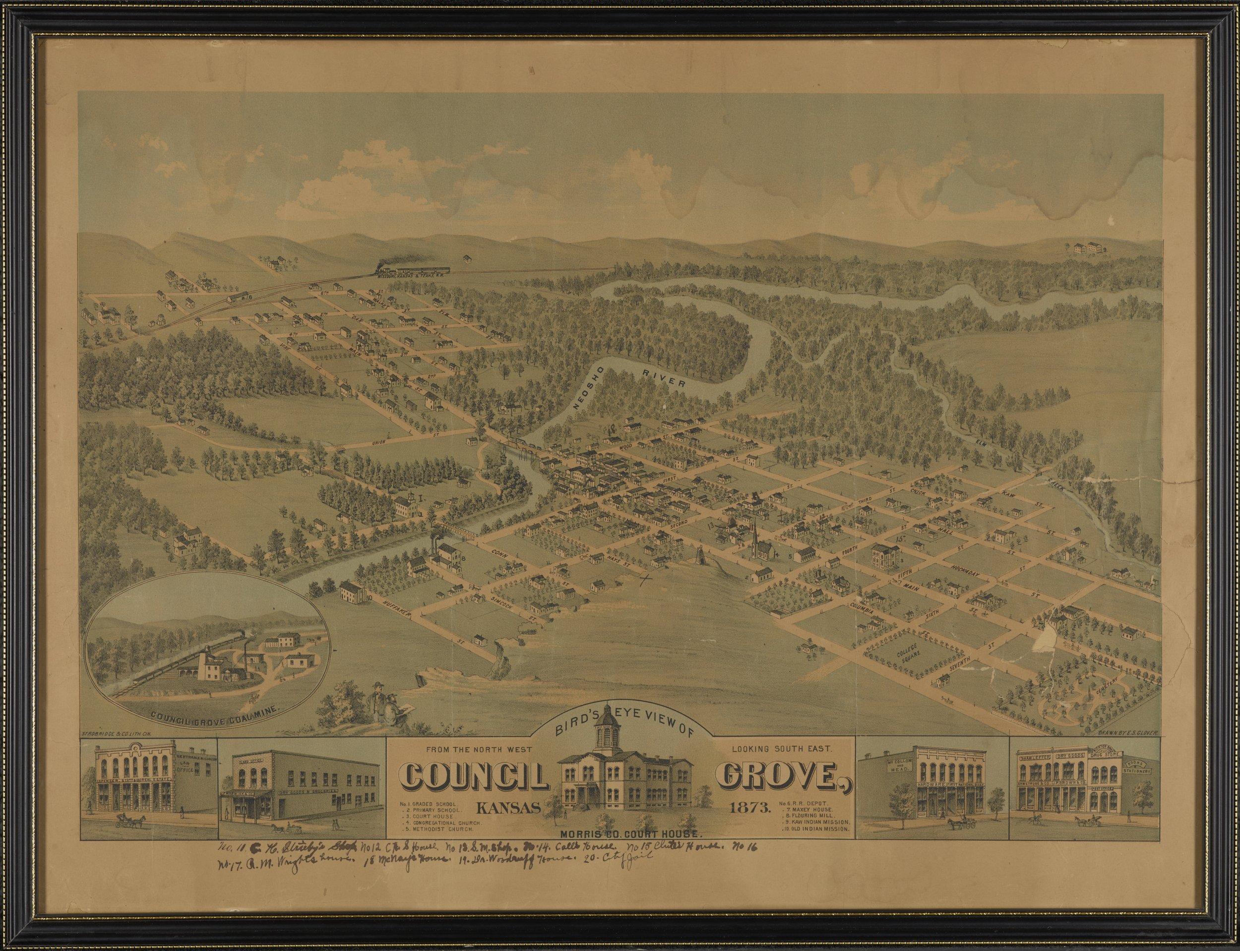 Bird's Eye view of Council Grove, Kansas - 1