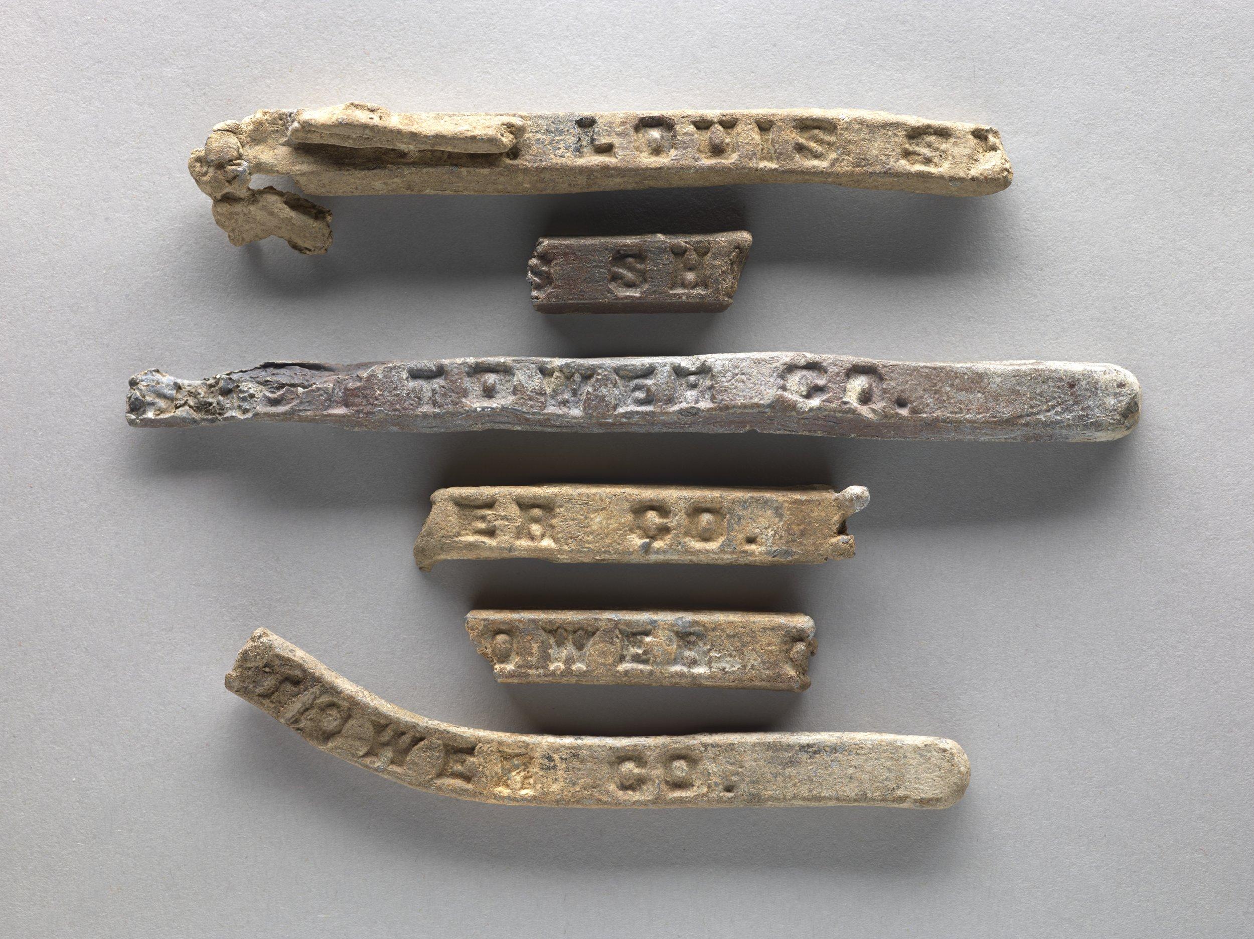 Lead Bars from Fort Zarah, 14BT301 - 2