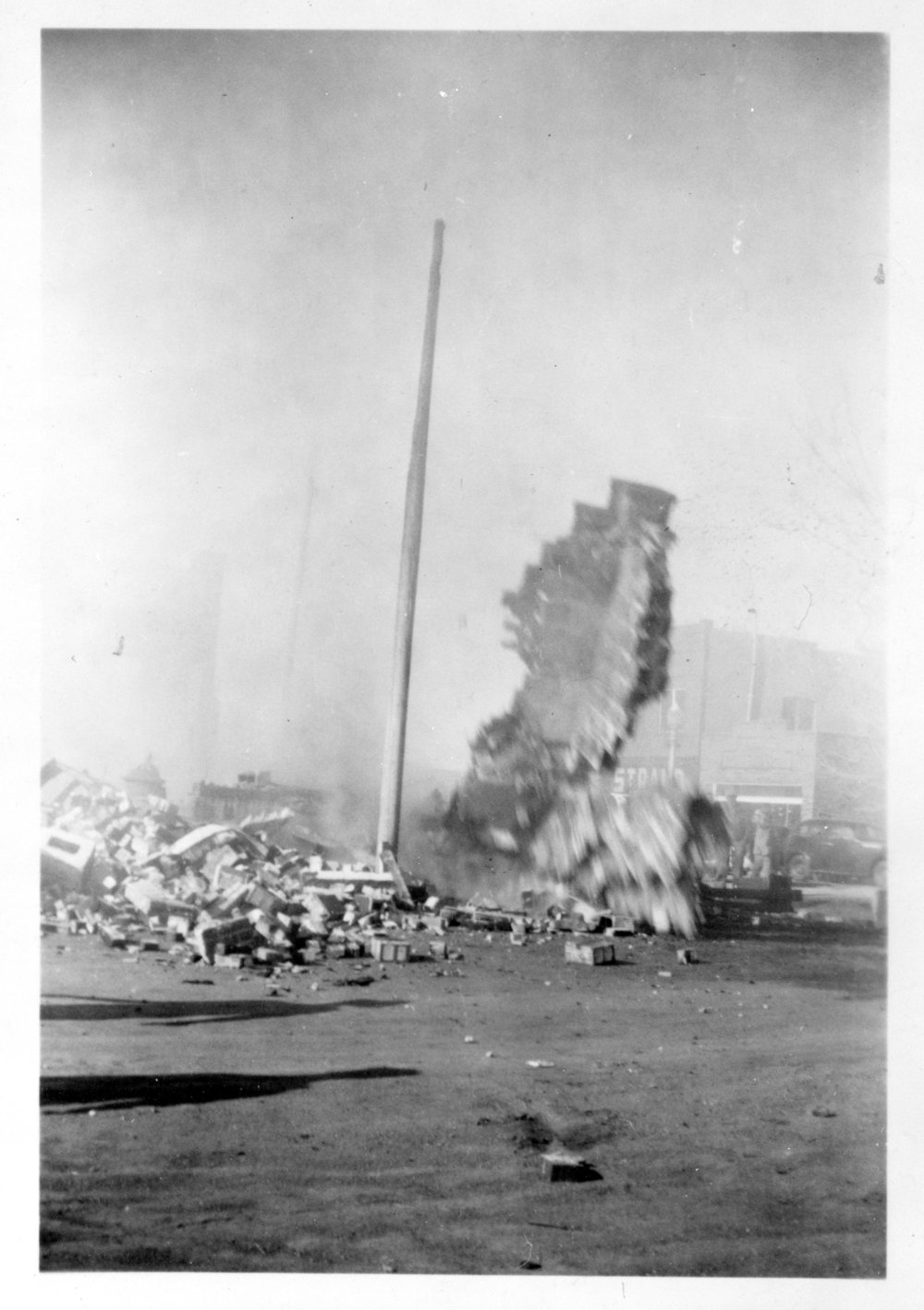 City building fire, Ransom, Kansas - 4