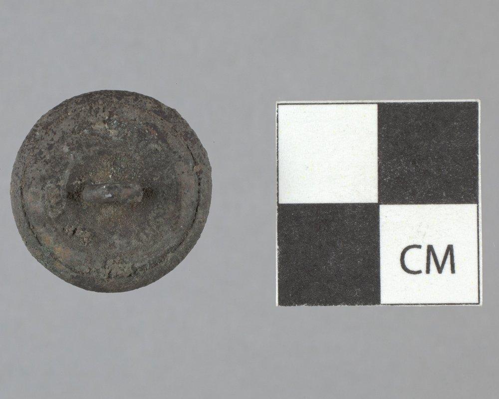 General Service Button from Fort Zarah, 14BT301 - 2