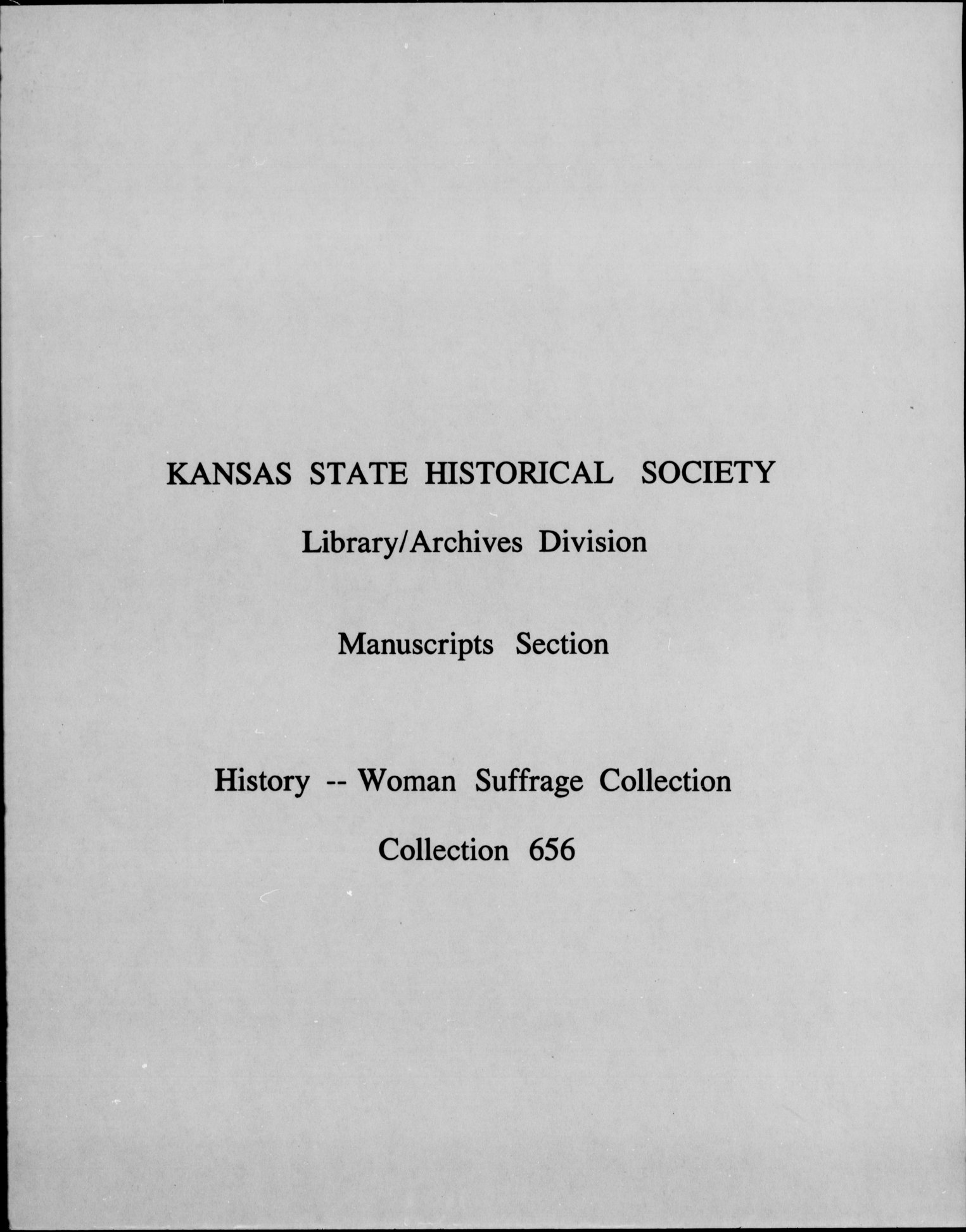 Woman Suffrage history collection - 7