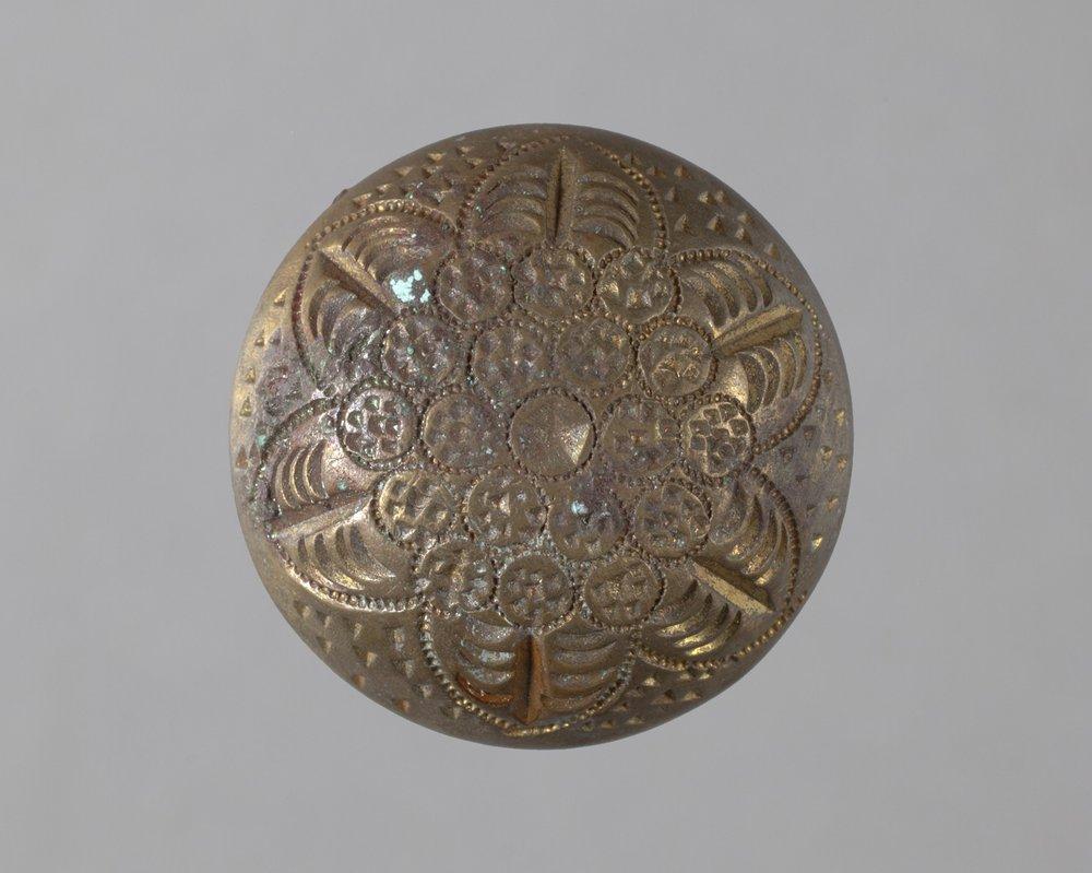 Gilt Button from Fort Zarah, 14BT301 - 1