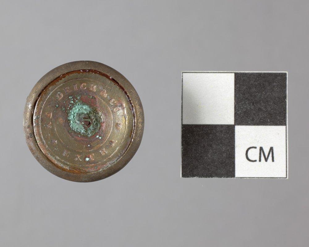Gilt Button from Fort Zarah, 14BT301 - 2