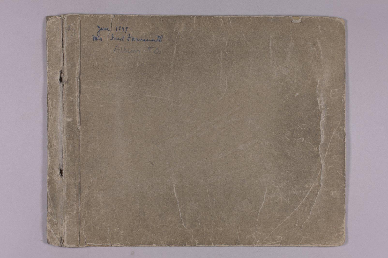 Martha Farnsworth scrapbook #4 - Front cover