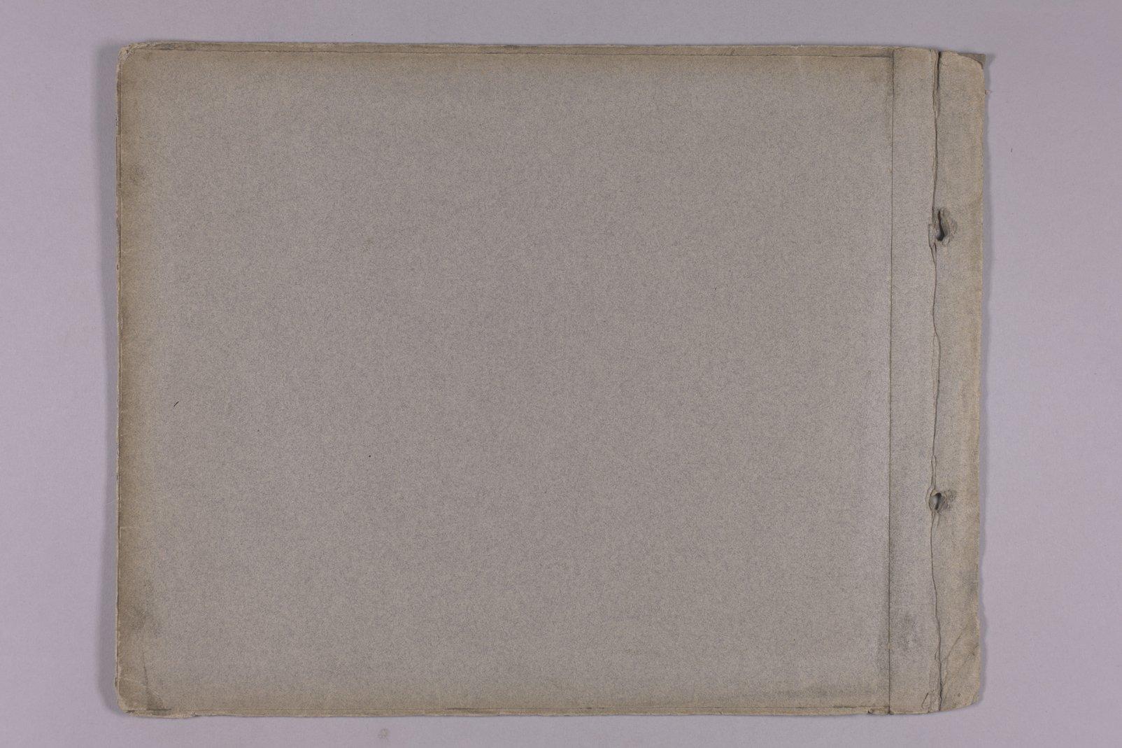 Martha Farnsworth scrapbook #4 - Inside cover