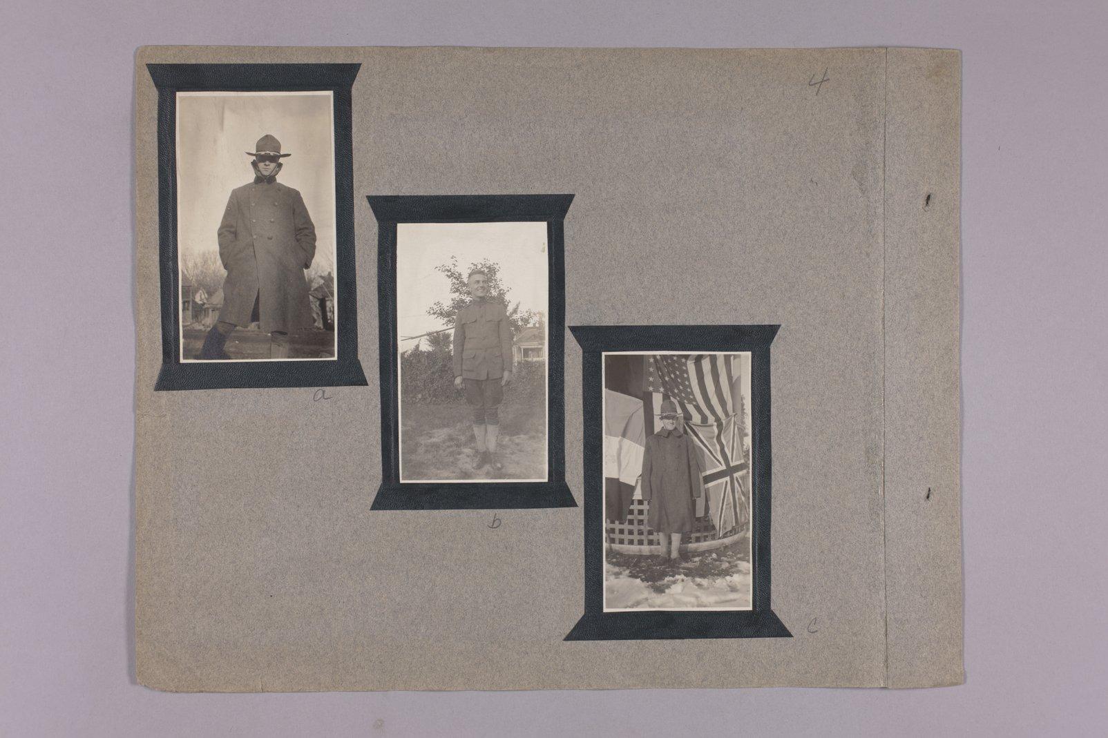Martha Farnsworth scrapbook #4 - Photographs: WW I. soliders