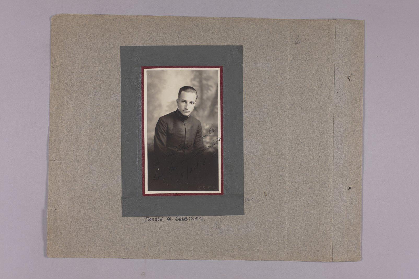 Martha Farnsworth scrapbook #4 - Photograph: Donald G. Coleman
