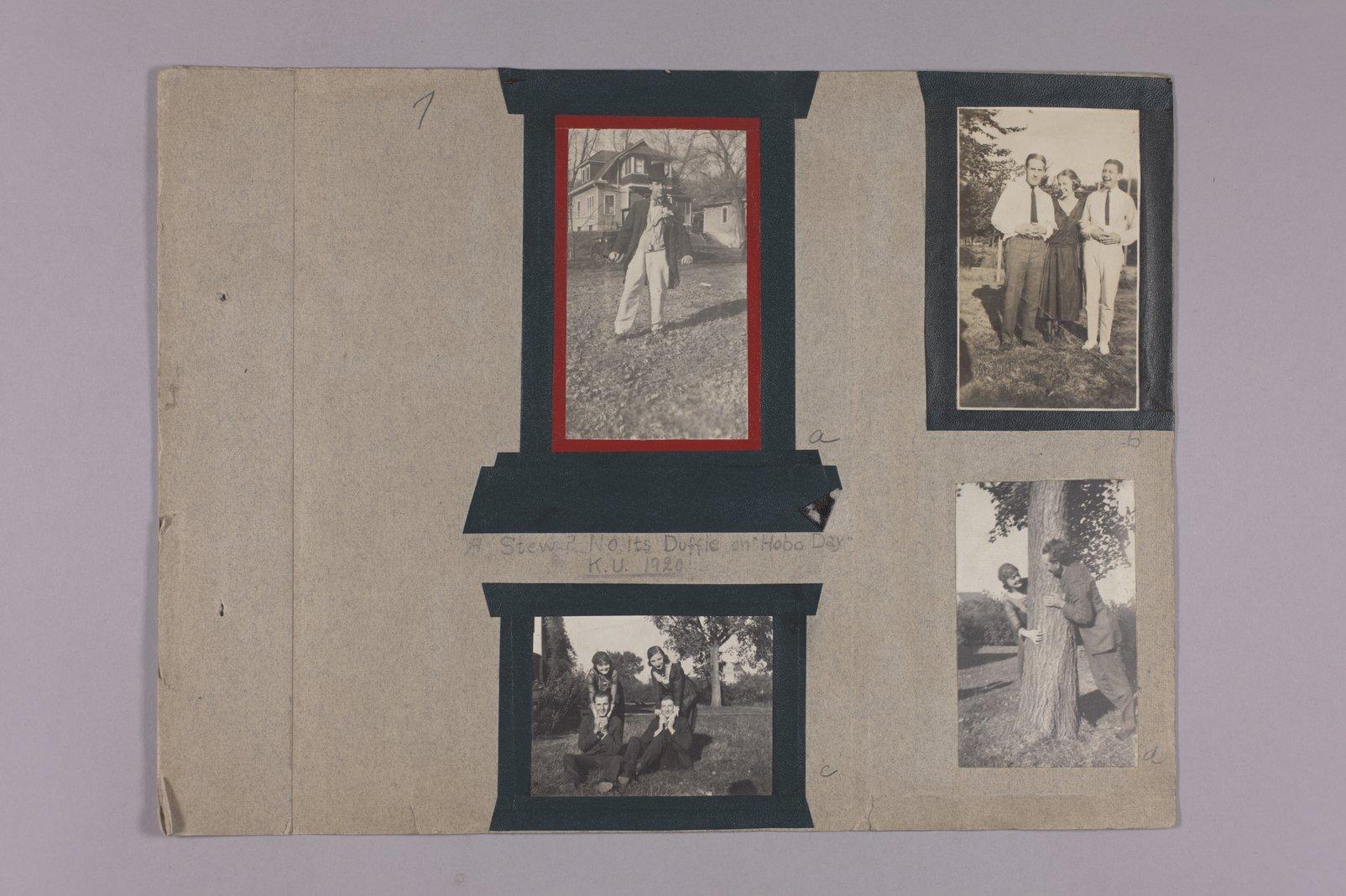 Martha Farnsworth scrapbook #4 - Photographs: Hobo Day @ KU 1920
