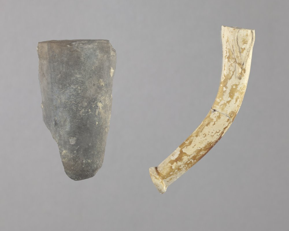 Ceramic Pipe Fragments from the Union Pacific Railroad Depot Site, 14DO324 - 1