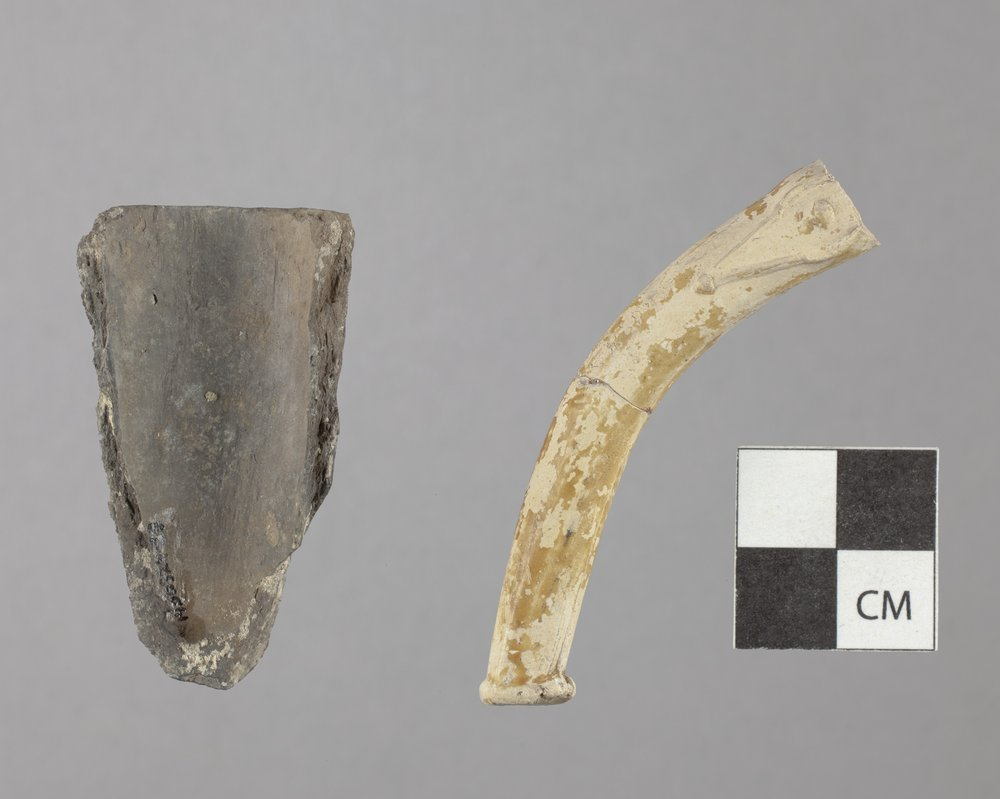 Ceramic Pipe Fragments from the Union Pacific Railroad Depot Site, 14DO324 - 2