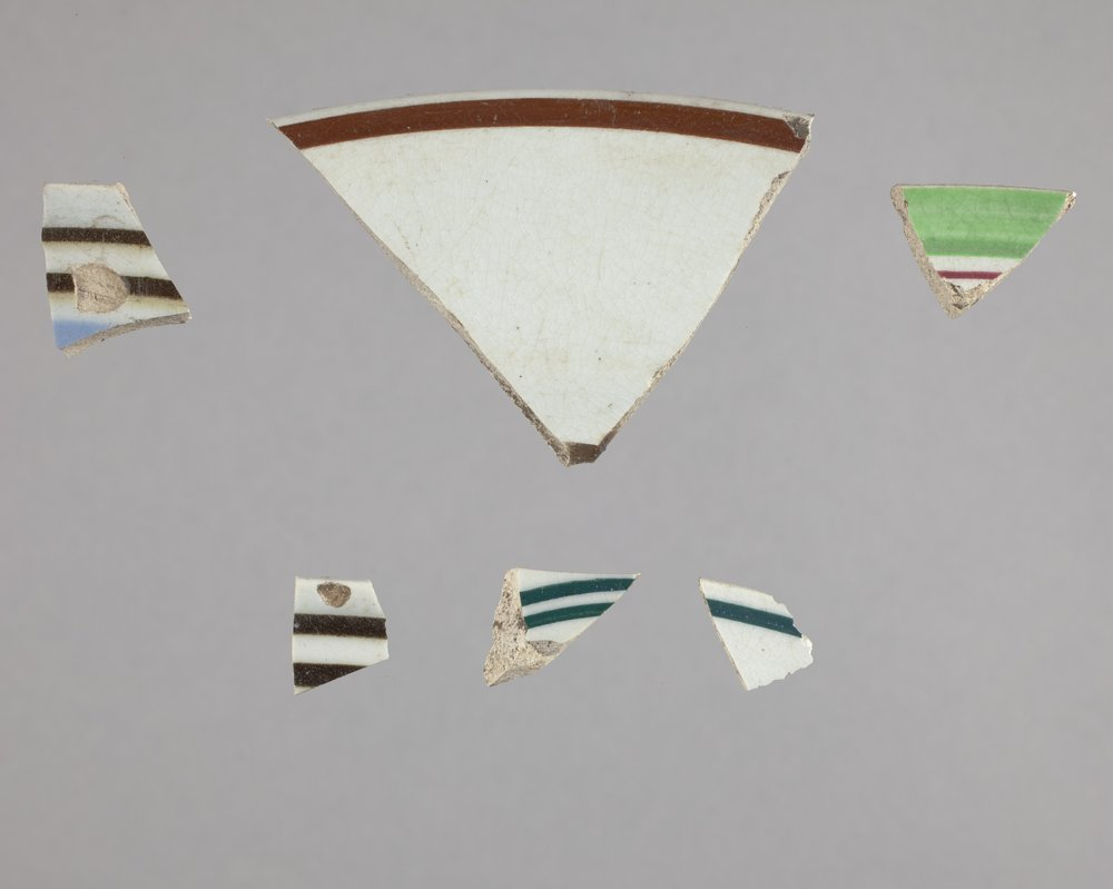 Banded Ware Dishes from Constitutional Hall State Historic Site, 14DO321 - 1