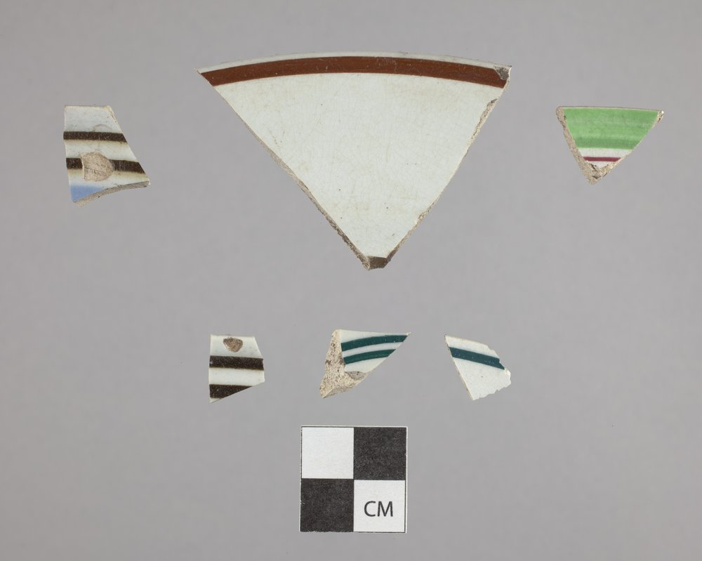 Banded Ware Dishes from Constitutional Hall State Historic Site, 14DO321 - 2
