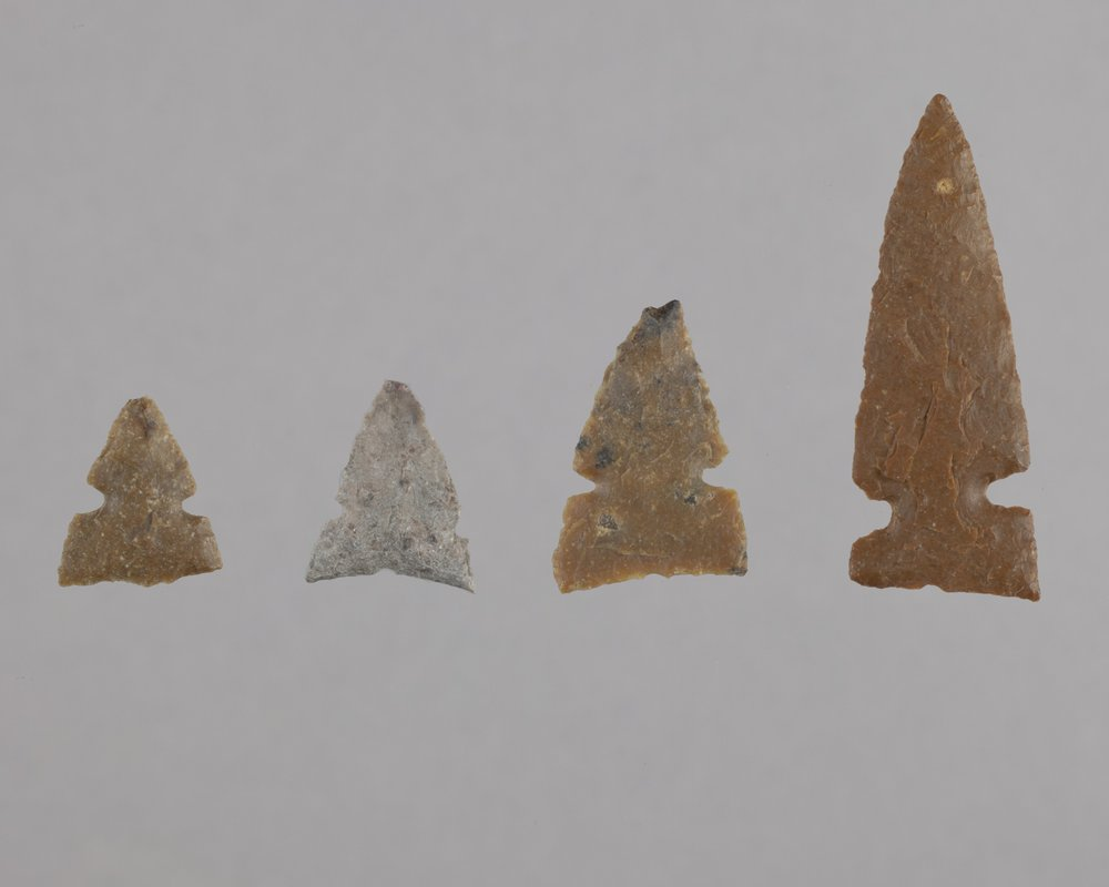 Side-Notched Arrow Points from the Tobias Site, 14RC8 - 1